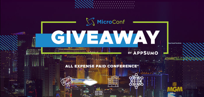 online contests, sweepstakes and giveaways - All Expense Paid Trip to MicroConf - Presented by AppSumo